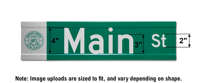 6″ Tall Extruded Blade Street Sign with Image