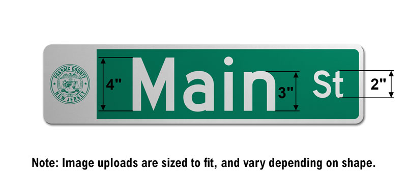 6″ Tall Street Sign with an Image