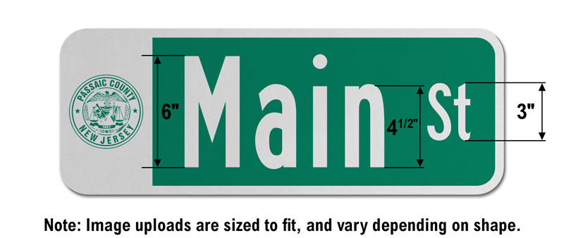 9″ Tall Street Sign with an Image