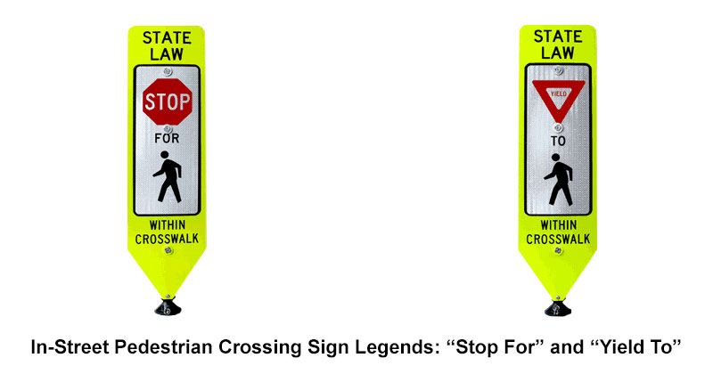 In-Street Crosswalk Signs