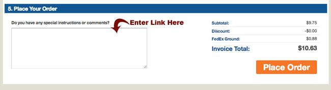 checkout page screenshot