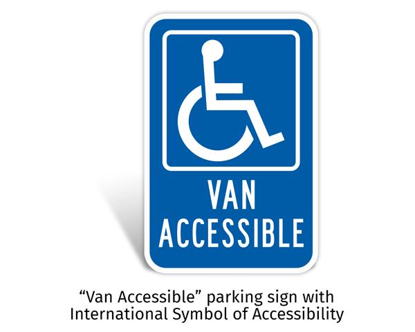 Federal Van Accessible Sign