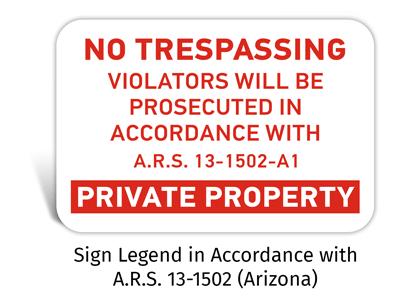 No Trespassing Statutes Signs
