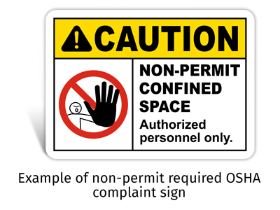 Non Permit Required Safety Sign