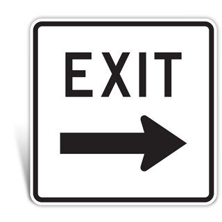 Entrance and Exit Sign