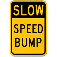 Speed Bump Sign;