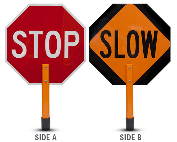 Temporary Traffic Control Paddle