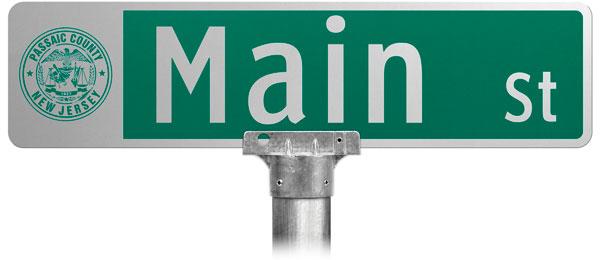 Civic Street Name Sign;