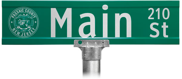 Extruded Street Name Sign;