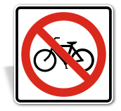 No Bicycle Sign;