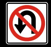 No U-Turn Sign;
