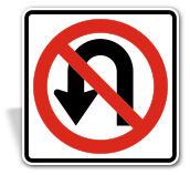 No U-Turn Sign;
