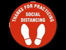 Distancing Floor Sign