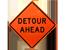 Orange Roll-Up Sign