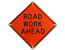 Roll Up Road Work Sign